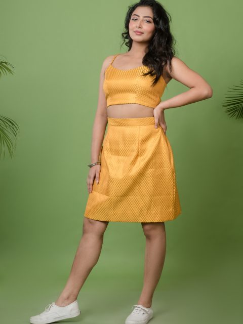 Its Time To Shine Mustard Yellow Tube Skirt