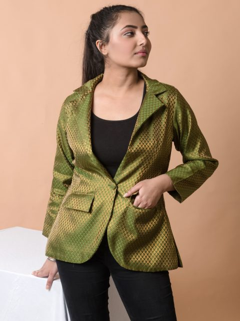 Stand Out From The Crowd Moss Green Blazer