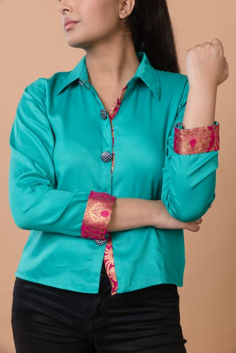 Be Bold and Different Turquoise Shirt