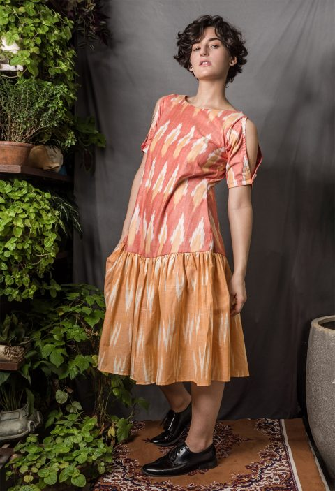 Drop Waist Ikat Dress