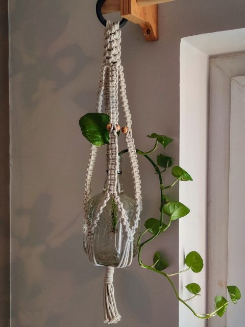 Natalia Macrame Plant Hanger with One Free Pot