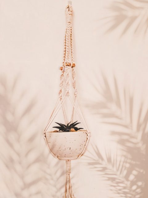 Darcey Macrame Plant Hanger with One Free Pot