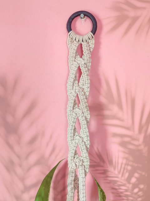 Agnes Macrame Plant Hanger with One Free Pot