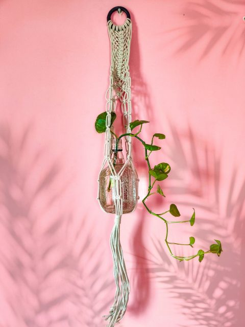 Tamara Macrame Plant Hanger with One Free Pot