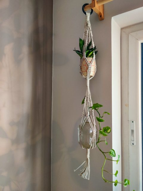 Julie Macrame Plant Hanger with One Free Pot