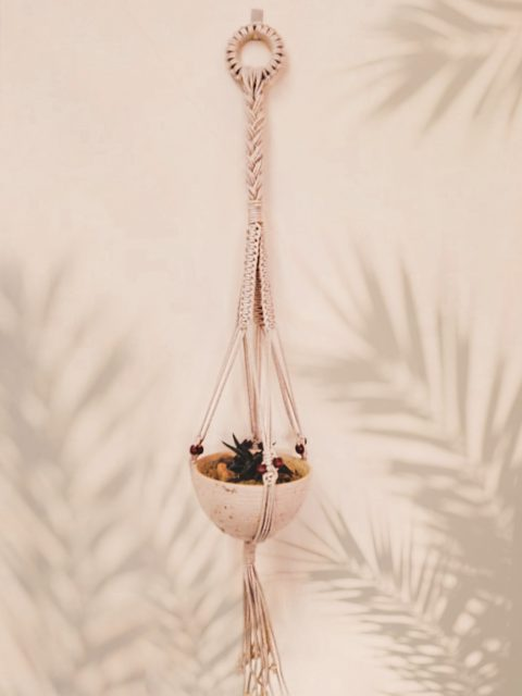 Polina Macrame Plant Hanger with One Free Pot
