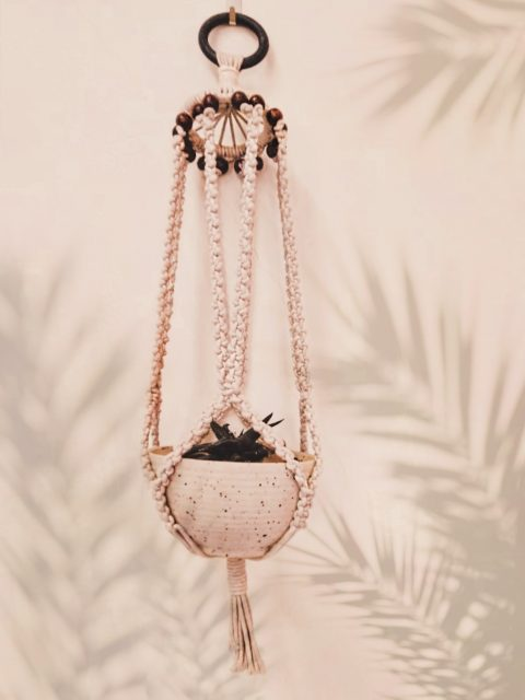 Sylvie Macrame Plant Hanger with One Free Pot