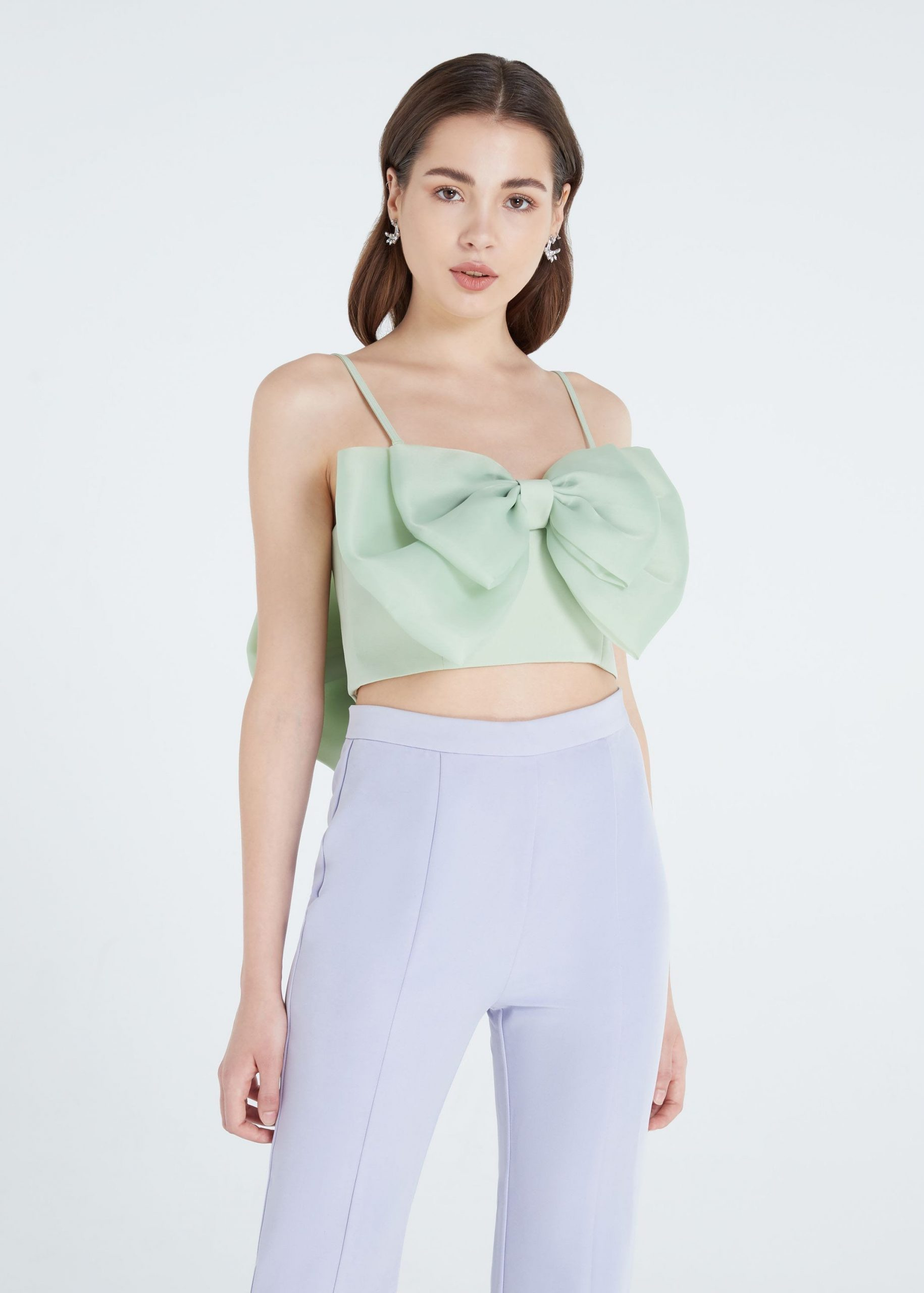 Crop tops came in fashion, largely due to fabric rationing