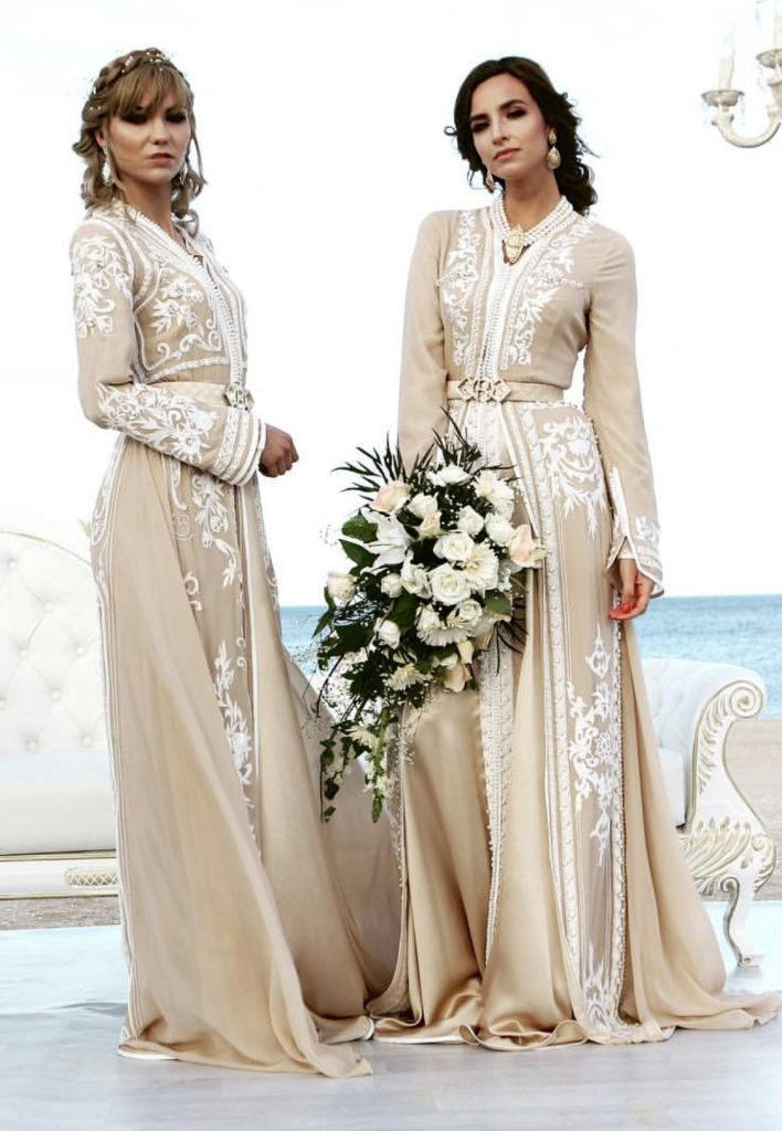 Heavily ornamented Moroccan version of haute couture Kaftans